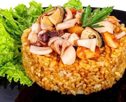 Рецепт креветок с рисом и соевым соусом